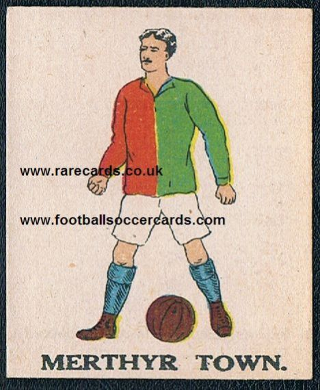 1923 Merthyr Town Battocks card